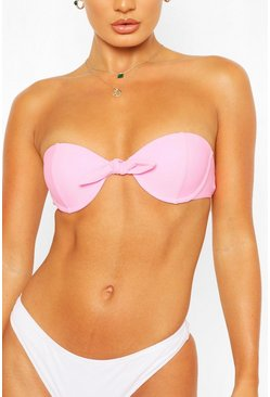 Pink Mix & Match Underwired Push Up Bikini Top