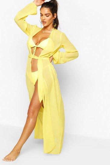 Yellow Maxi Beach Kimono