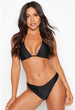 Black Mix & Match Brazilian V Front Bikini Brief