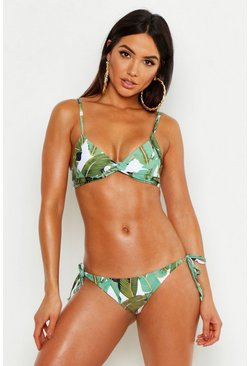 Green Mix & Match Beverly Hills Tie Side Bikini Brief