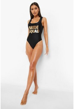 Black Bride Squad Swimsuit