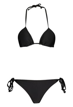 Black Triangle Bikini Set