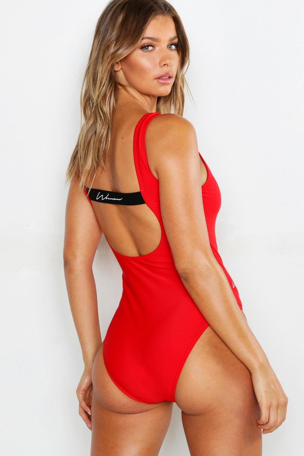 SALE Woman Strappy Back Scoop Swimsuit