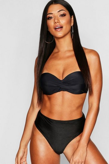Black Mix & Match Push Up Balconette Top