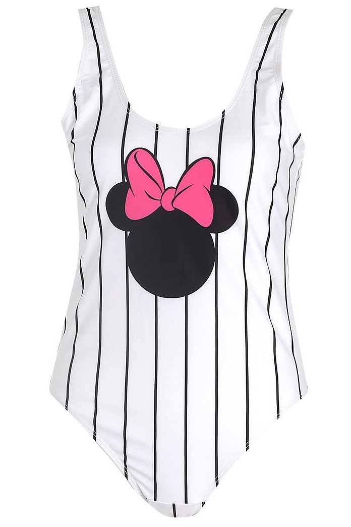 Disney Stripe Mouse Swimsuit   Boohoo UK