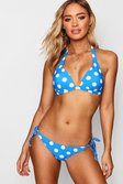 Top push up de lunares Mix and Match, Azul