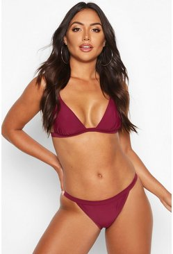 Burgundy red Algarve Mix & Match Clean Triangle Top