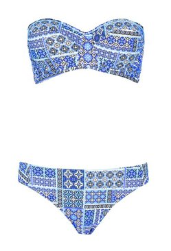 Blue Perth  Print Underwired Bikini
