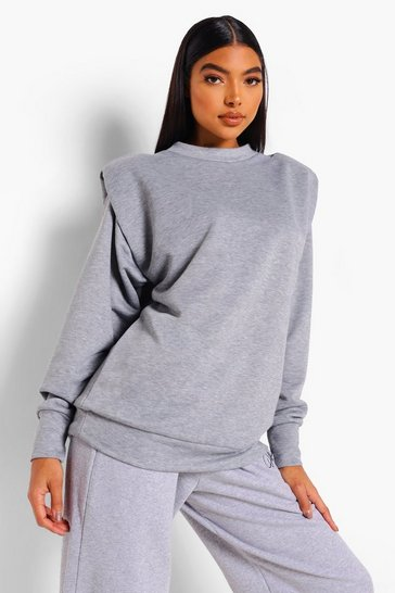Grey Tall Oversized Shoulder Pad Sweat