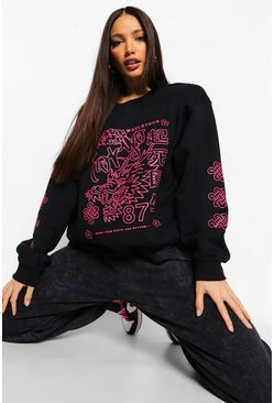 Black Tall Graphic Sweatshirt