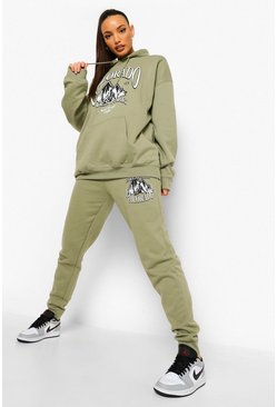 Khaki Tall Colorado Graphic Joggers