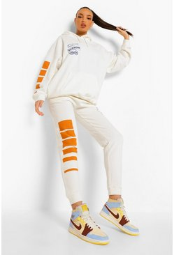 Ecru white Tall Season Joggingbroek