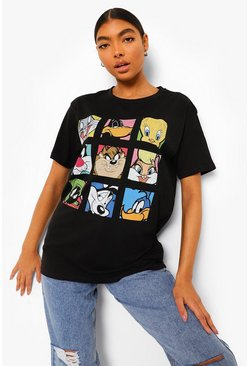 Black Tall Looney Tunes License T-shirt