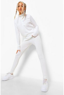 Ecru white Tall Rib Lounge Leggings