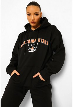 Black Tall Sunshine State Collegiate Print Hoody
