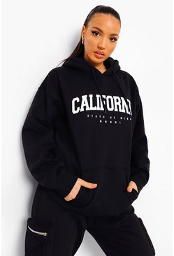 Black Tall California Collegiate Print Hoody