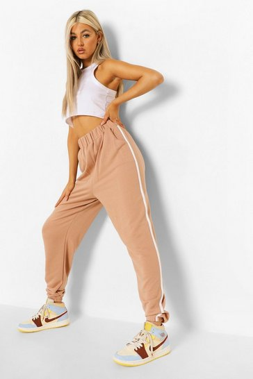 Stone beige Beige Tall Piping Side Joggers