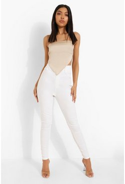 Tall White Denim Jegging