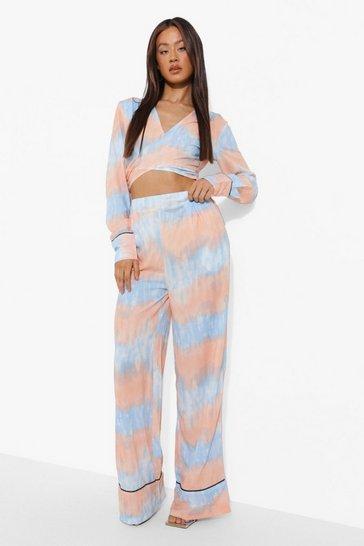 Blue Tall Tie Dye Crop Trouser Co-ord