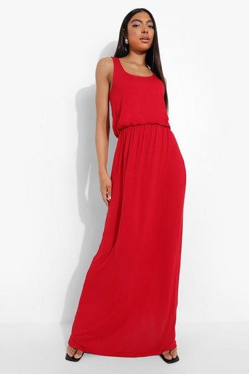Red Tall Racer Back Maxi Dress