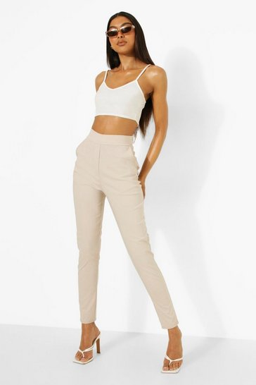 Stone beige Tall Stretch Tapered Trouser