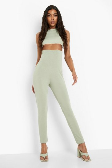 Sage green Tall Recycled Jersey Leggings