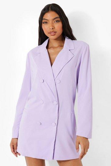 Violet purple Tall Oversized Tailored Blazer Dress