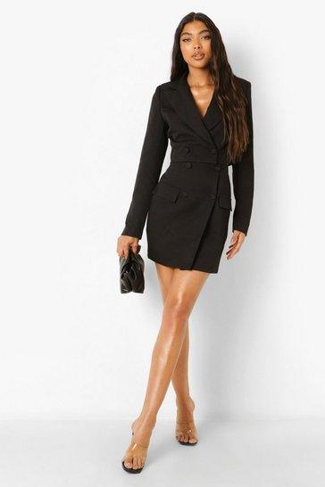 Black Tall Wrap Mini Skirt