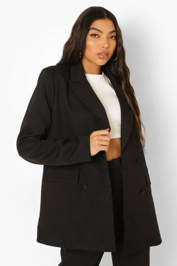 Black Tall Double Breasted Blazer