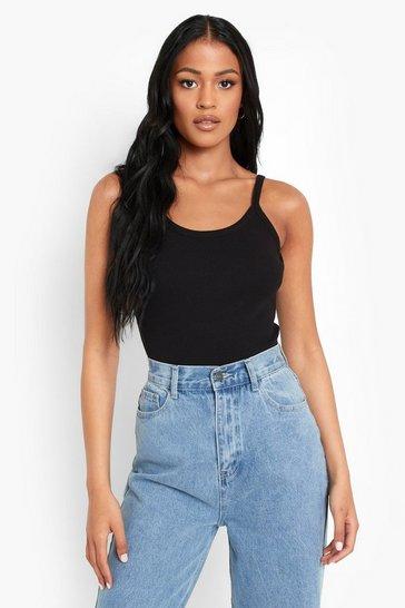 Black Tall Heavy Rib Bodysuit