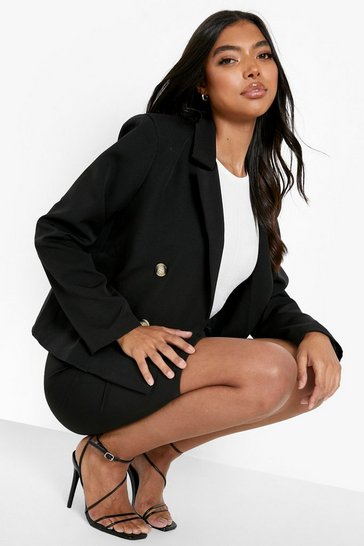 Black Tall Tailored Crop Blazer