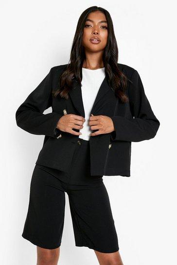 Black Tall Tailored City Shorts