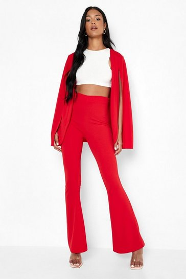 Red Tall Tailored Cape Blazer