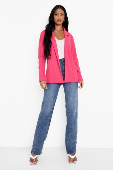 Pink Tall Scuba Crepe Blazer