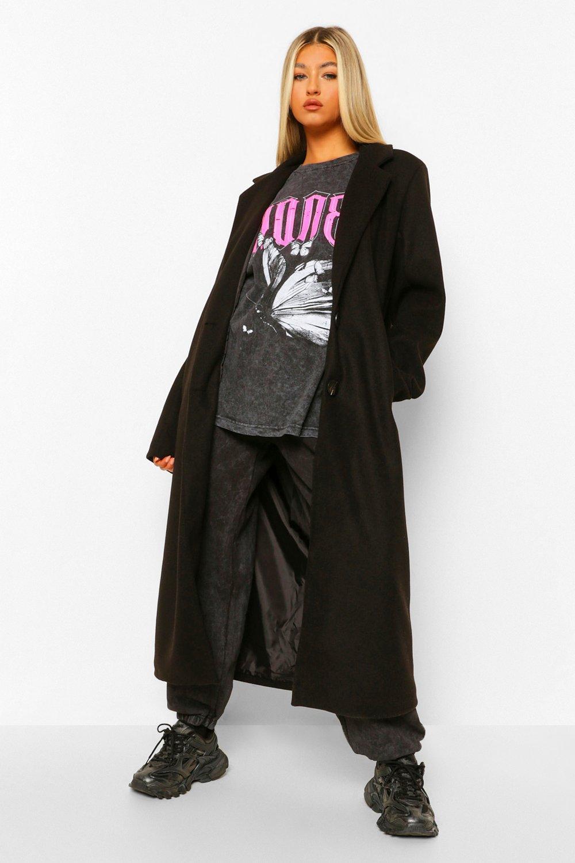 Tall Clothing Tall Longline Wool Look Coat