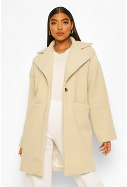 Ecru white Tall Luxe Textured Wool Look Coat