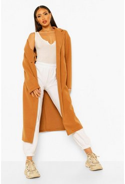 Camel beige Tall Longline Wool Look Coat
