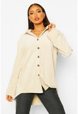 Ivory white Tall Corduroy Blouse