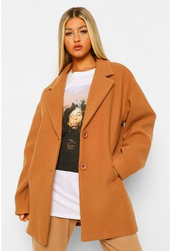 Camel beige Tall Wool Look Coat