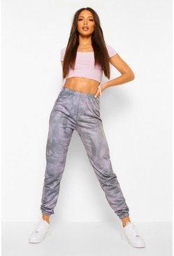 Grey Tall Marmerprint Joggingbroek
