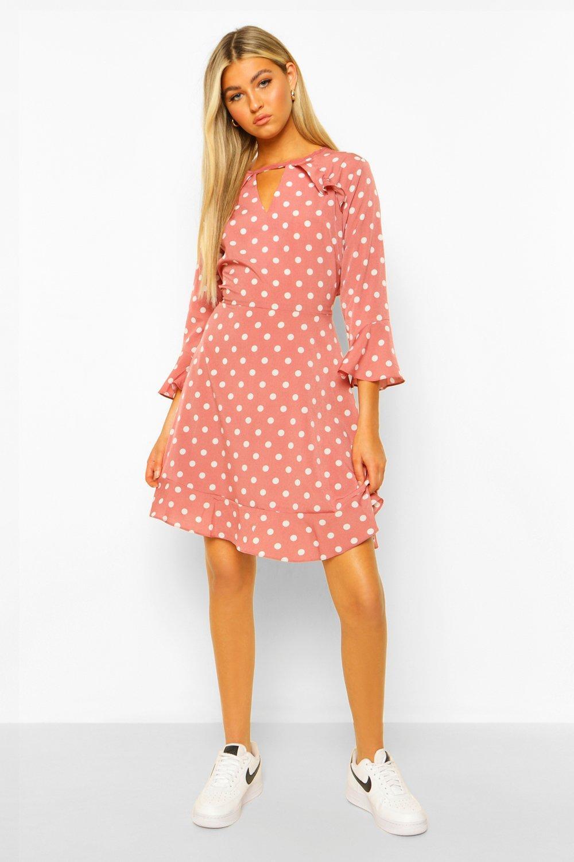 Tall Dresses Tall Woven Polka Dot Skater Dress