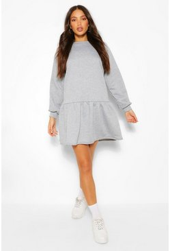 Grey Tall Sweater Smock Dress