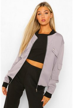 Tall - Blouson bomber à poches, Grey gris