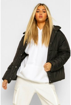 Black Tall Puffer Jacket
