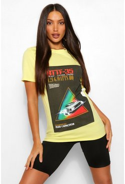 Yellow Tall Back To The Future License T-Shirt