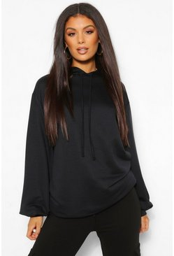 Black Tall Oversized Hoody