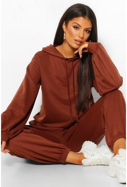 Chocolate brown Tall Oversized Hoody