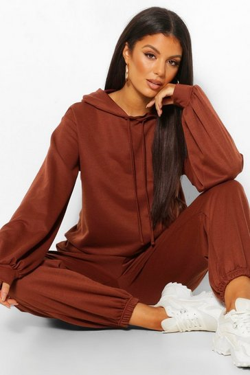 Chocolate brown Brown Tall Oversized Hoody