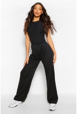 Black Tall Wide Leg Joggers