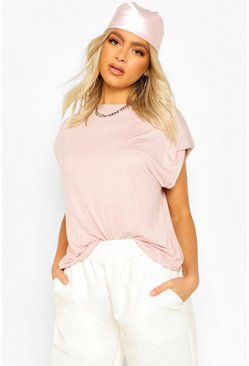 Peach orange Tall Shoulder Pad T-Shirt
